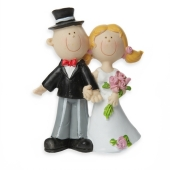 Figur  Brautpaar, 8 cm x 6,5 cm