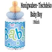 Baby Boy Centerpiece, Honeycomb, Tischdekoration zu Babyparty, Geburt und Taufe, Junge