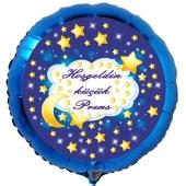 """Rundluftballon in Blau, 45 cm """"Hoşgeldin küçük Prens"""""""