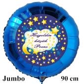 """Rundluftballon in Blau, 90 cm """"Hoşgeldin küçük Prens"""""""