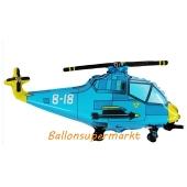 Helikopter, Hubschrauber Luftballon, Blau, mit Ballongas Helium