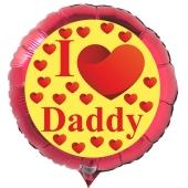 Rundluftballon zum Vatertag. I love Daddy. Rot, 45 cm inklusive Ballongas Helium