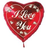 I Love You Herzluftballon aus Folie