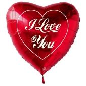 I Love You großer, roter Herzluftballon