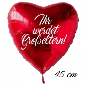 Ihr werdet Großeltern! Luftballon. 45 cm inklusive Helium