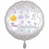Ihr werdet Großeltern, Boy, Luftballon aus Folie, 43 cm, Satine de Luxe, weiß