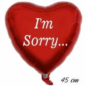 Im Sorry Luftballon. 45 cm inklusive Helium