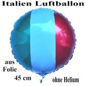 Italien Luftballon, Folienballon 45 cm mit den Italienfarben
