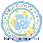 It´s a Boy Jumbo-Luftballon aus Folie inklusive Helium