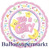 It´s a Girl Jumbo-Luftballon aus Folie inklusive Helium