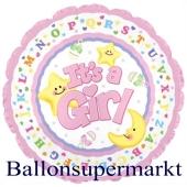 It´s a Girl Jumbo-Luftballon aus Folie inklusive Helium