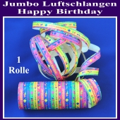 Jumbo Luftschlangen Happy Birthday 1 Rolle