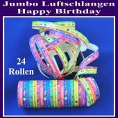 Jumbo Luftschlangen Happy Birthday 24 Rollen