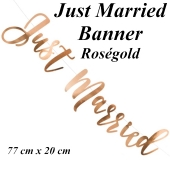 Letterbanner Just Married Rose Gold