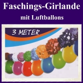 Karnevalsgirlande, Faschingsgirlande mit Luftballons