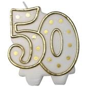 Kerze Zahl 50 zur Goldenen Hochzeit