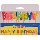 Happy Birthday Geburtstagskerzen, Buchstabenkerzen