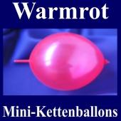 Kleine Kettenballons, Girlanden-Luftballons Mini, Warmrot-Metallic