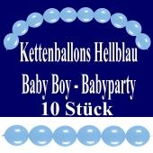 Kettenballons Baby Boy, Hellblau, Babyparty Dekoration