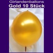 Kettenballons-Girlandenballons-Gold-Metallic, 10 Stück
