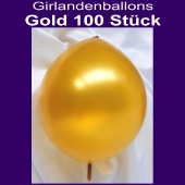 Kettenballons-Metallic-Gold-100-Stueck-30-cm-Girlanden-Luftballons