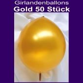 Kettenballons-Metallic-Gold-50-Stueck-30-cm-Girlanden-Luftballons