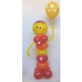 Geschenkmännchen Smiley mit Helium gefüllten Latexballon