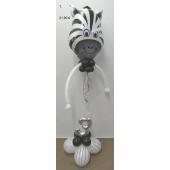 Geburtstags-Deko-Zebra