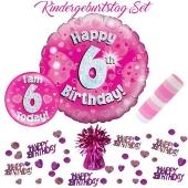 5-teiliges Partydeko-Set zum 6 Geburtstag