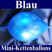 Kleine Kettenballons, Girlanden-Luftballons Mini, Blau-Metallic