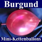Kleine Kettenballons, Girlanden-Luftballons Mini, Burgund-Metallic