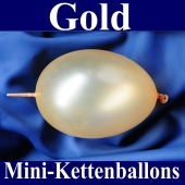 Kleine Kettenballons, Girlanden-Luftballons Mini, Gold-Metallic