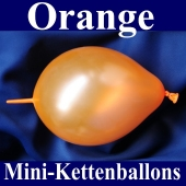 Kleine Kettenballons, Girlanden-Luftballons Mini, Orange-Metallic
