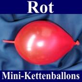 Kleine Kettenballons, Girlanden-Luftballons Mini, Rot-Metallic