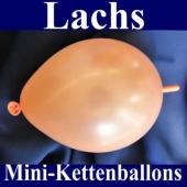 Kleine Kettenballons, Girlanden-Luftballons Mini, Lachs-Metallic