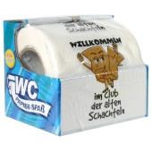 Toilettenpapier Willkommen im Club der alten Schachteln