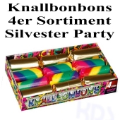 Knallbonbons 4er Set Silvester Party