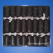 Knallbonbons Sortiment Schwarz Glitter 8 Stück