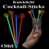 Knicklicht Cocktail-Sticks, 4 Stück, bunt