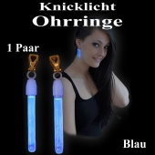 Knicklicht Mini Ohrringe, blau