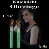 Knicklicht Mini Ohrringe, grün