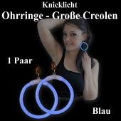 Knicklicht Maxi Ohrringe, Creolen, blau