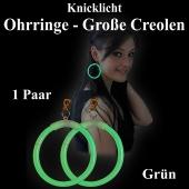 Knicklicht Maxi Ohrringe, Creolen, grün