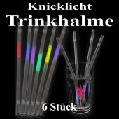 Knicklicht Trinkhalme, 6 Stück, bunt