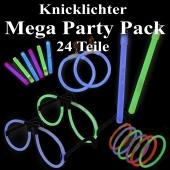 Knicklicht Mega Party Pack, 24 Teile, bunt