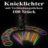 Knicklichter, bunt, 100 Stück mit Verbindungsstücken