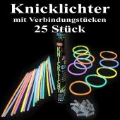 Knicklichter, bunt, 25 Stück mit Verbindungsstücken
