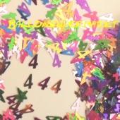 Konfetti zum 4. Geburtstag, Zahl 4, 4. Jahrestag, 4. Jubiläum, Tischdekoration und Streudekoration