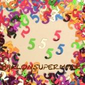 Konfetti zum 5. Geburtstag, Zahl 5, 5. Jahrestag, 5. Jubiläum, Tischdekoration und Streudekoration