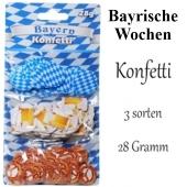 Bayern Konfetti, Tischdekoration zu Bayrischen Wochen, 3 Sorten